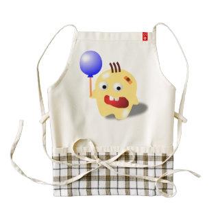 A yellow monster with a balloon cartoon zazzle HEART apron