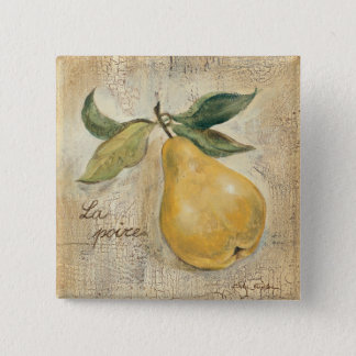 A Yellow Pear Pinback Button