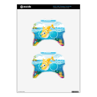 A yellow shark diving into the sea xbox 360 controller skin