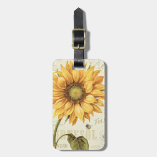 A Yellow Sunflower Bag Tag