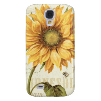 A Yellow Sunflower Samsung Galaxy S4 Case