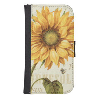 A Yellow Sunflower Wallet Phone Case For Samsung Galaxy S4