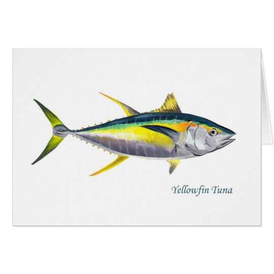A Yellowfin Tuna greetings card