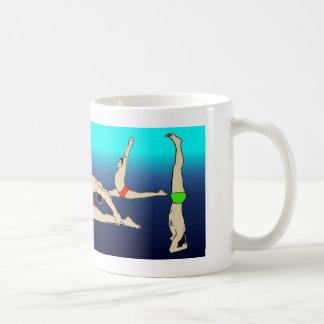 A yoga mug them