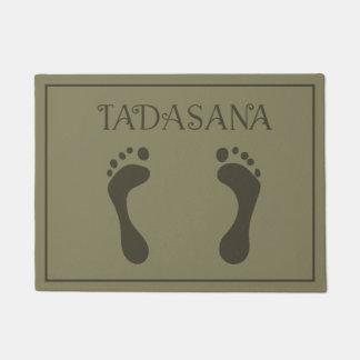 A Yogi's Door Mat - Foot Prints - Tadasana