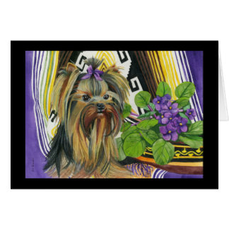 A Yorkie Named Violet Stationery Note Card