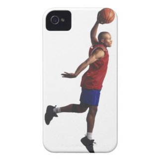 a young adult male basketball player flies Case-Mate iPhone 4 cases