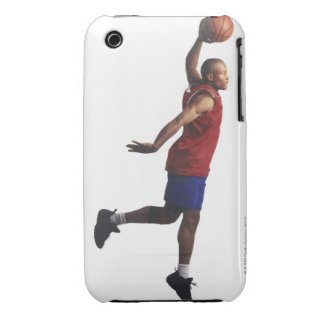 a young adult male basketball player flies iPhone 3 case