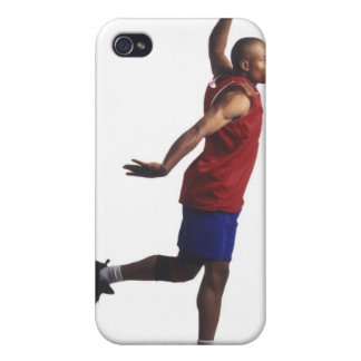 a young adult male basketball player flies iPhone 4 case