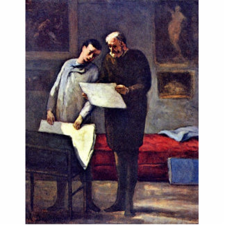 A Young Artist Receives Advice By Daumier Honoré ( Photo Cutouts