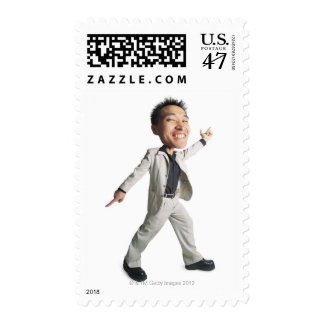 a young asian male gives the stayin alive pose postage