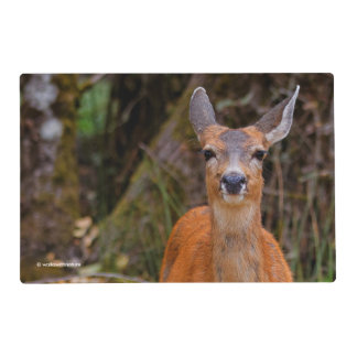 A Young Black-Tailed Deer Smiles Placemat