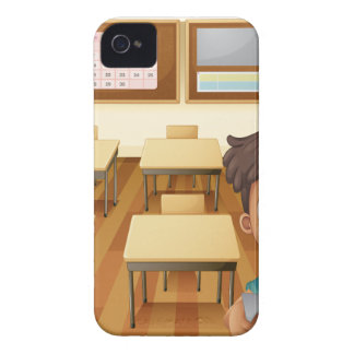 A young boy inside the classroom iPhone 4 case