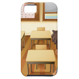 A young boy inside the classroom iPhone 5 covers