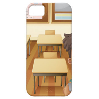 A young boy inside the classroom iPhone 5 cover