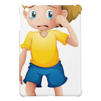 A young boy sobbing iPad mini covers