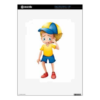 A young boy sobbing iPad 2 skins