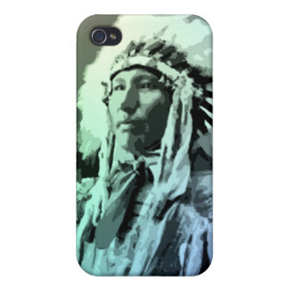 A Young Brule Indian Man iPhone 4 Cases