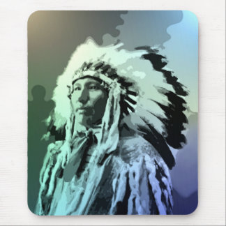 A Young Brule Indian Man Mouse Pad