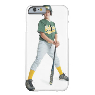 a young caucasian boy is wearing a green little barely there iPhone 6 case
