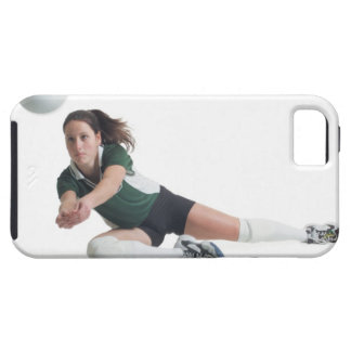 a young caucasian female volleyball player in a iPhone SE/5/5s case
