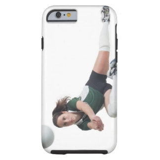 a young caucasian female volleyball player in a tough iPhone 6 case