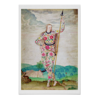 A Young Daughter of the Picts c 1585 w c and gou Print