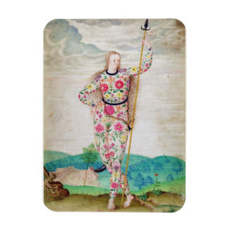 A Young Daughter of the Picts, c.1585 (w/c and gou Rectangular Photo Magnet