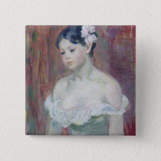 A Young Girl, 1893 Button