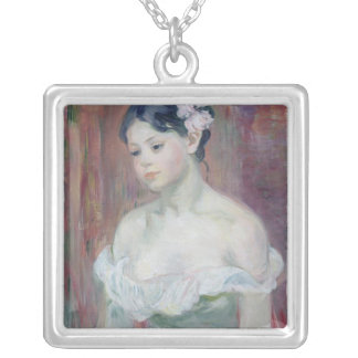 A Young Girl, 1893 Silver Plated Necklace
