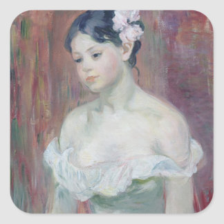 A Young Girl, 1893 Square Sticker