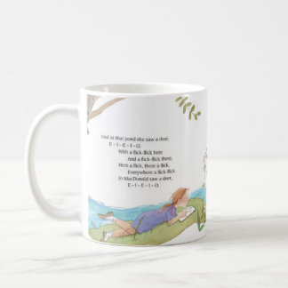 A Young girl and her poetry Coffee cup Classic White Coffee Mug