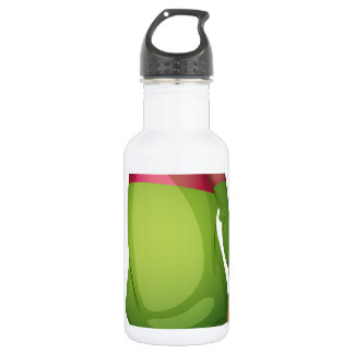 A young girl crying 18oz water bottle