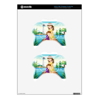 A young girl hugging her mother at the bridge xbox 360 controller skin