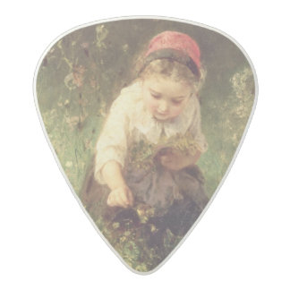 A Young Girl in a Field Acetal Guitar Pick