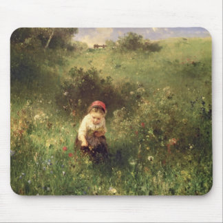 A Young Girl in a Field Mouse Pad