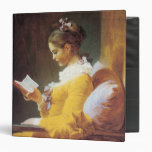 A Young Girl Reading Binder Binder
