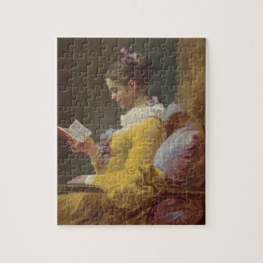 A Young Girl Reading Puzzle