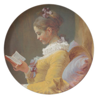 A Young Girl Reading, The Reader by J. Fragonard Plate