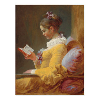 A Young Girl Reading, The Reader by J. Fragonard Postcard