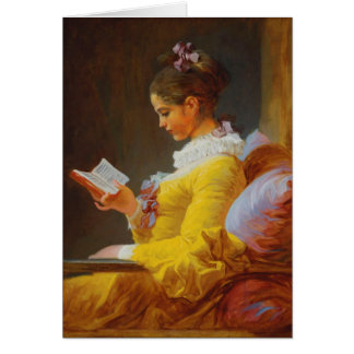 A Young Girl Reading (The Reader) Card