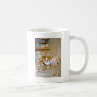 A YOUNG GIRL TAKES HER FIRST TRIP TO WONDERLAND CLASSIC WHITE COFFEE MUG
