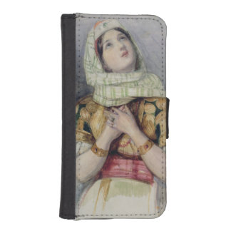A Young Lady in Turkish Dress (w/c over pencil on iPhone SE/5/5s Wallet