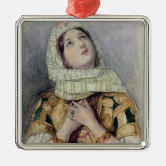 A Young Lady in Turkish Dress (w/c over pencil on Metal Ornament