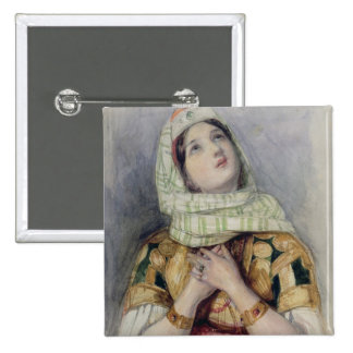 A Young Lady in Turkish Dress (w/c over pencil on Pinback Button