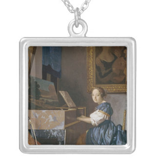 A Young Lady Seated at a Virginal, c.1670 Pendant