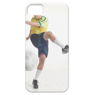 a young latin male wears a yellow soccer jersey iPhone SE/5/5s case