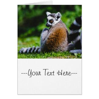 A Young Lemur, Animal Photography Card