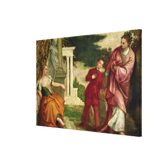 A Young Man Between Virtue and Vice Canvas Print