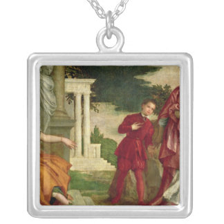A Young Man Between Virtue and Vice Silver Plated Necklace